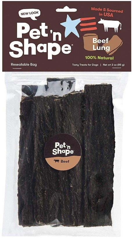 Pet 'n Shape Natural Beef Lung Strips Dog Treats