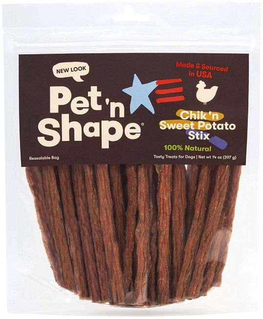 Pet 'n Shape Natural Chik 'n Sweet Potato Stix Dog Treats
