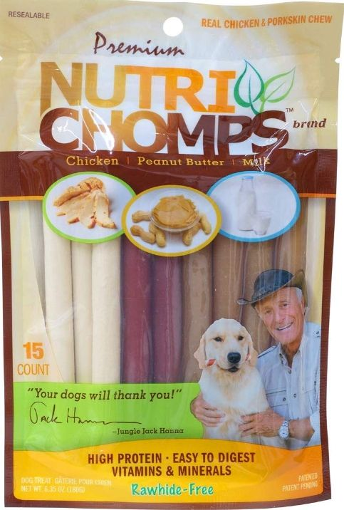 Pork Chomps Premium Nutri Chomps Assorted Flavor Twist - MIni