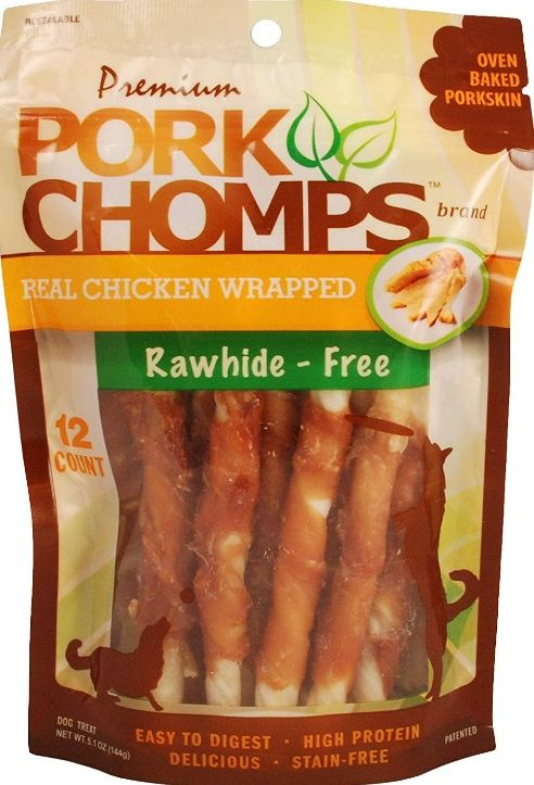 Pork Chomps Premium Real Chicken Wrapped Twists - Mini