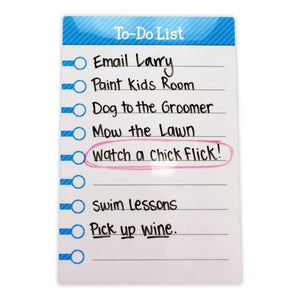 "Large Stickitlist - Peel & Stick Dry-Erase Board (8.5""x13"") w/marker - Simpleblue design, re-stickable & reusable self-adhesive honey-do to-do lists to organize, keep track - no magnets, tacks or damage!"