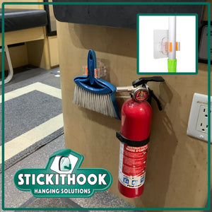 StickIt Broom Holder