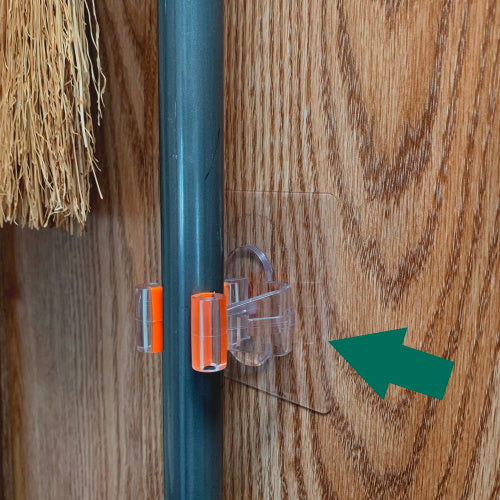 StickIt Hook Broom Holder
