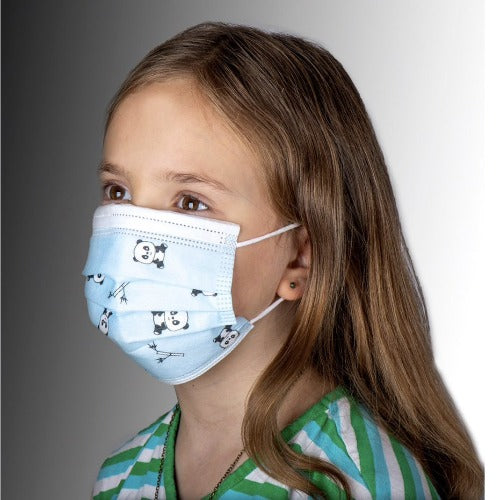 Children's Disposable Protective Masks - 3PLY - Panda Design 50/Pack