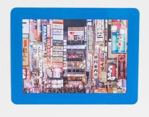 "Peel & Stick Photo Frames - Reposition 100s of times, re-stickable: no nails, tacks, DIY, blue 5""x7"""