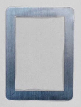 "Peel & Stick Photo Frames - Reposition 100s of times, re-stickable: no nails, tacks, DIY, silver, 4""x6"""