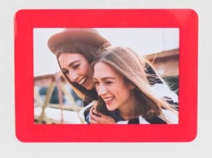 "Peel & Stick Photo Frames - Reposition 100s of times, re-stickable: no nails, tacks, DIY, red, 4""x6"""