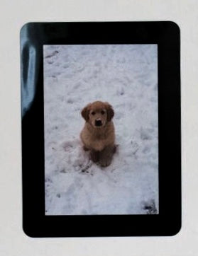 "Peel & Stick Photo Frames - Reposition 100s of times, re-stickable: no nails, tacks, DIY, black, 4""x6"""