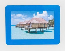 "Peel & Stick Photo Frames - Reposition 100s of times, re-stickable: no nails, tacks, DIY, blue, 5""x7"""