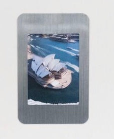 "Peel & Stick Photo Frames - Reposition 100s of times, re-stickable: no nails, tacks, DIY, silver 2.5""x3.5"""