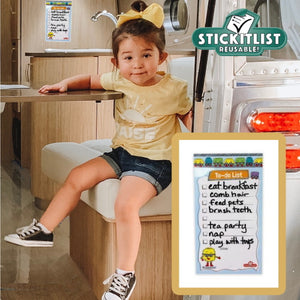 "StickIt Reusable List – Kids To-Do List – 5"" x 9"""