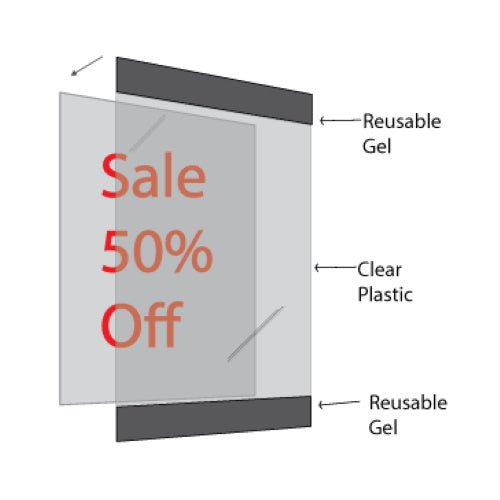 "Reusable Frame with 1"" Black Border for 8.5"" x 11"" Insert - 5/Pack"