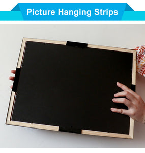 Poster/Object HANGER - W/ VELCRO/SUCTION STRIPS -4/Pack