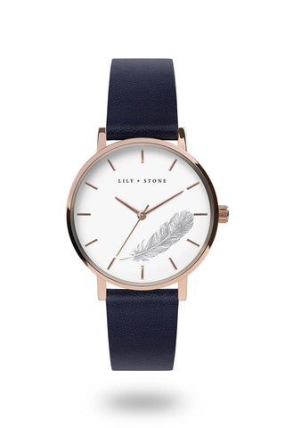 Brooklyn Collection - Rose Gold/Navy - Feather