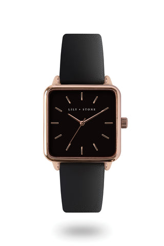 Milan Collection - Rose Gold/Black - Black