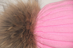 CANDY PINK POM POM HAT FOR CHILDREN
