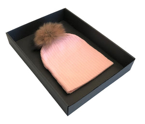 LIGHT PINK BABY POM POM HAT