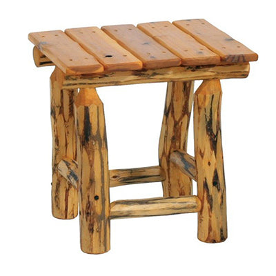Teocalli Log Cocktail Table