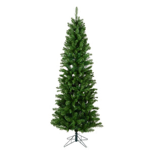 "7.5' x 36"" Salem Pencil Pine 679 Tips christmas tree"