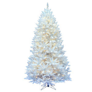 "6.5' x 46"" Sparkle White Spr 400LED Wht christmas tree"