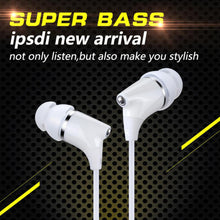 IPSDI E09 Earphone 1.25M 3.5MM Smart Phones Earphones Good Sound Quality Noise Isolation In Ear Earphone For Phone