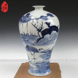 Jingdezhen ceramic vase blue and white porcelain antique blue and white vase extra large antique vase home decoration