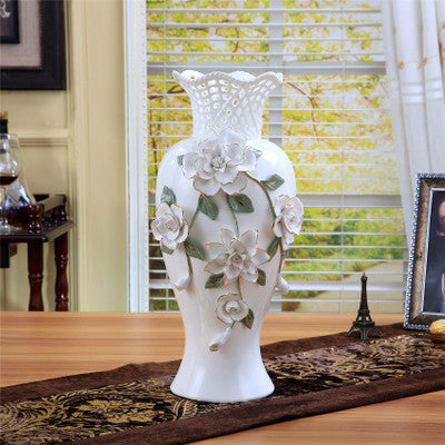 ceramic big white modern flowers vase home decor large floor vases for wedding decoration ceramic handicraft porcelain figurines