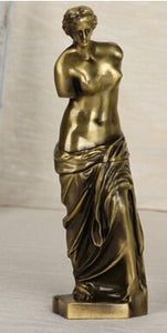 7 Inch  3D Metal Venus de Milo Greek Replica Statue Collectible  Art Figurine Figure Sculpture Home Decro Crafts 3 Color