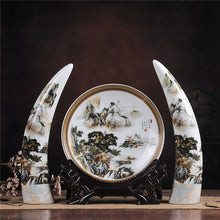 Antique Jingdezhen Ceramic Ivory Vase Set Classical Chinese Traditional Plate Modern Pastel Large Ivory