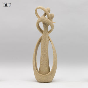 BUF Home Decoration Fashion  Abstract Kissing Couple Ornament Statue Handmade Resin Craft Wedding Decoration Gift Sculpture