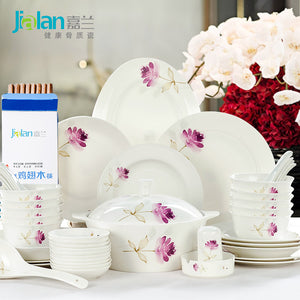 Garland Korean style 28/56 head Chinese dishes home wedding bone china tableware suit suit up gifts