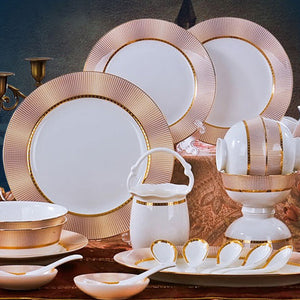 Special offer Korean dishes authentic Jingdezhen China 56 head 10 high-grade ceramic tableware style style