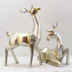 Home Furnishing European Wine Room Decoration Crafts Deer Sculpture Modern Minimalist Wedding Gift Home Decor Ornaments