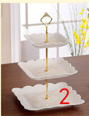 ceramic layer cake tray fruit dish fruit candy tea pastry dessert frame