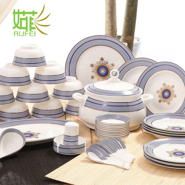 ... The dishes set tableware Jingdezhen household porcelain Korean dishes creative Chinese simple dishes & The dishes set tableware Jingdezhen household porcelain Korean dishes