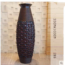 Bamboo Floor Vase Big Wood & Bamboo Large Flower Floor Vase Antiques Home Decorative Craft Large Wedding Decoration