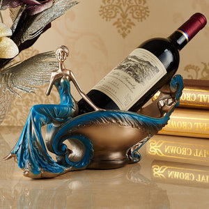 Continental wine rack fruit bowl key disk Craft home bar decoration beer stand resin wine holders bottle holder whisky ornaments