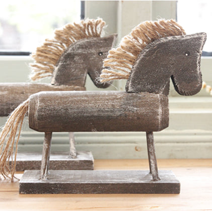 Handmade Wood Carving Single Props Wooden Horse Sculpture Wood Crafts Home Decoration Desktop Decoration Home Furnishing