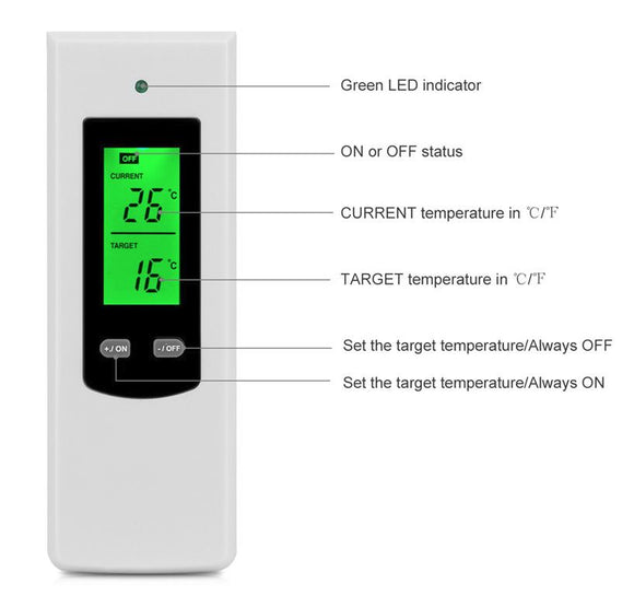 Thermostat WirelessTemperature Remote Control LCD Wireless Temperature With Alarm Function Controller - M.R. Pet Supplies