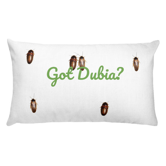 Got Dubia? Rectangular Pillow - M.R. Pet Supplies