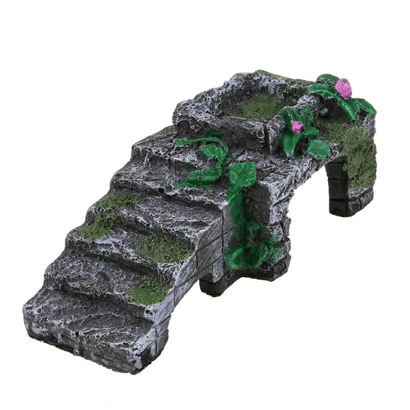 Resin Turtle Reptile Platform Basking Ramp Tank Water Aquatic Climb Ornamen Fish & Aquatic Pet Supplies E5M1 - M.R. Pet Supplies