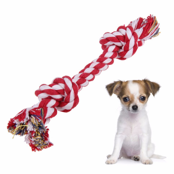 Dog Rope Toys We don't offer color choices, all will be sent at random. Colorful Braided Cotton Rope Knot Chew Toys for Dog Puppy Doogie Pet Supplies Dog Products - M.R. Pet Supplies