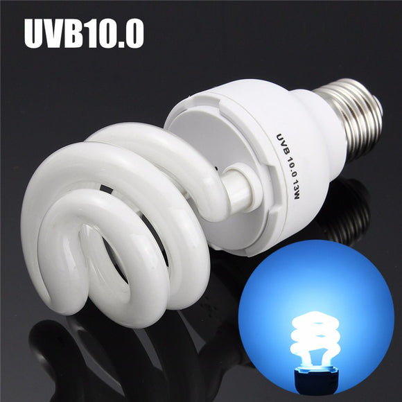 UVB5.0/UVB10.0 13W Compact Light Fluorescent Desert Terrarium Reptile Lamp Bulb 110-240V - M.R. Pet Supplies