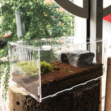 Reptile Box Terrarium Durable Transparent Acrylic - 30*20*15cm - M.R. Pet Supplies