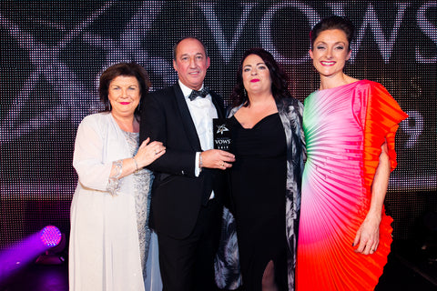 Vows awards industry award Elaine c Smith, rachel scott Couture, the rad group