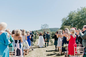 From a dramatic Scottish woodland backdrop to the absolute JOY of being Mr and Mrs!