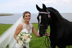 Non stop smiles, gallons of giggles, a cute dog and a horse! Orkney shows us how to do a wedding right!