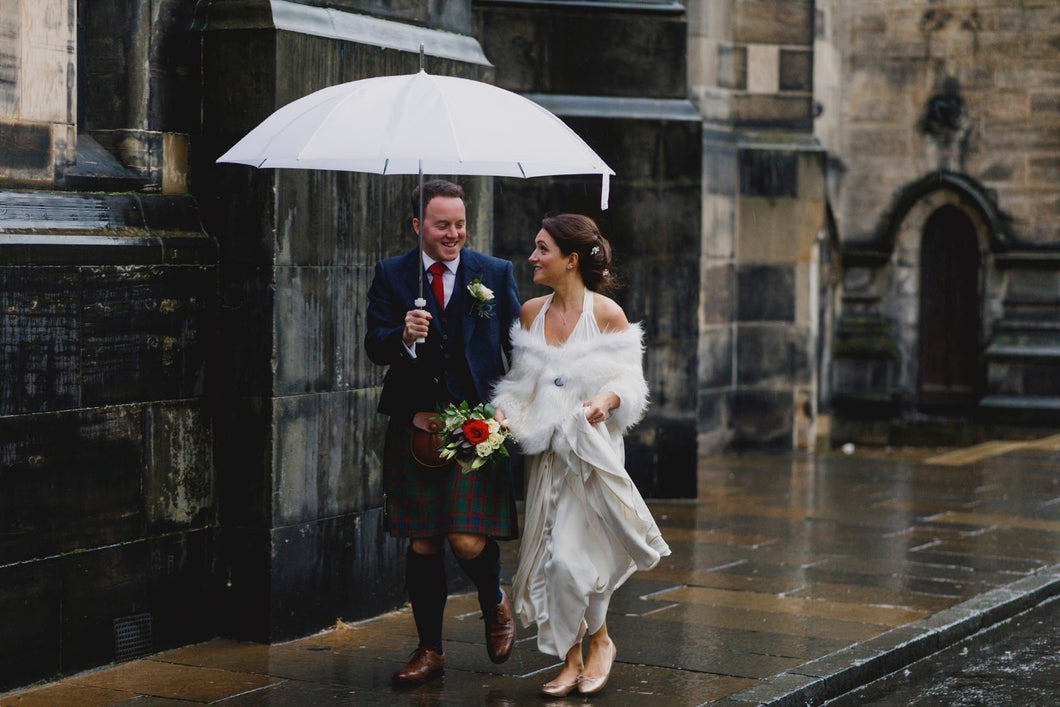 Spots of rain, gallons of laughter and some seriously wild ceilidh dancing - ingredients for the perfect Scottish wedding celebration!