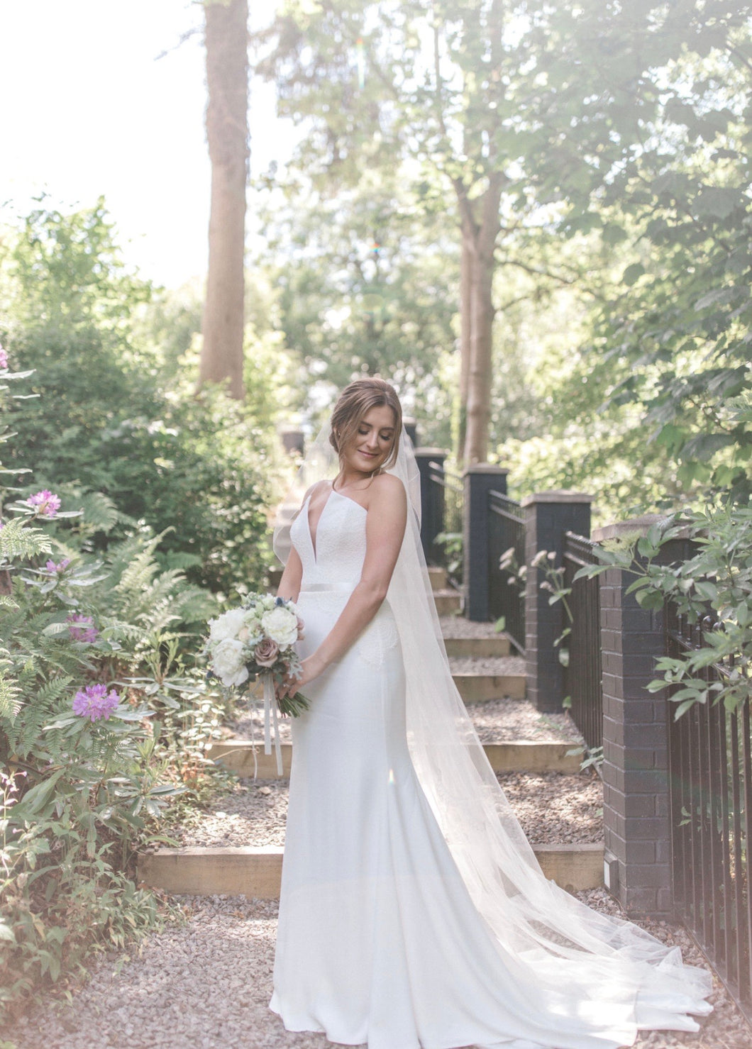 Sharp Lines, Delicate Lace, and a Wonderful Woodland Background!