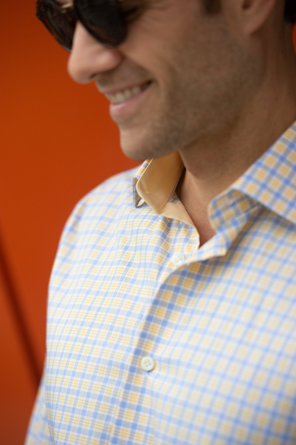 THE THAYER SHIRT (YELLOW/BLUE)